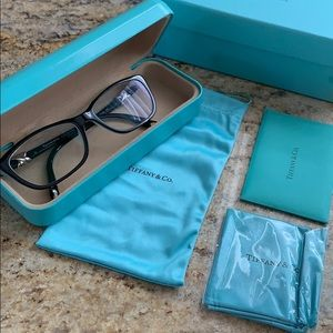 Tiffany Black Glasses Set